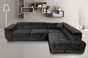 Furniture4you  Ecksofa Amaro-P rechts - mit Schlaffunktion - Anthrazit