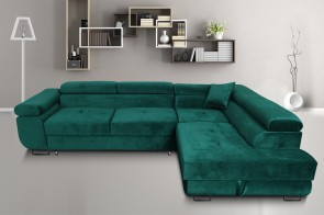 Furniture4you  Ecksofa Amaro-P rechts - mit Schlaffunktion - Gruen