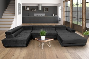 Furniture4you  Wohnlandschaft Amaro-P links - mit Schlaffunktion - Anthrazit