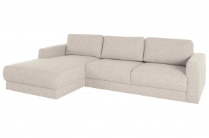 Eckcouch Hobro links - Beige