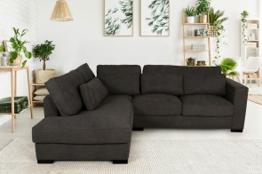 Ecksofa XL Anna links - Braun