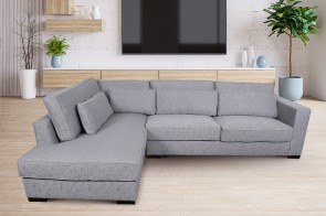 Ecksofa XL Anna links - Grau