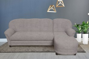 Domo Collection Ecksofa Camelita-P - mit Schlaffunktion - Hellgrau
