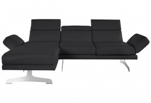 Collection Leder Ecksofa - Schwarz