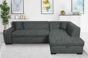 Robert Design Sofa L-Form Minos-P rechts - mit Schlaffunktion - Anthrazit