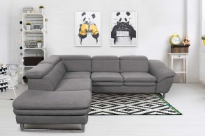 Ecksofa XL Michellin links - Grau