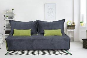 3er-Sofa Tokio - mit Schlaffunktion - Grau