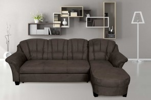 Sofa L-Form Budapest rechts - mit Schlaffunktion - Anthrazit