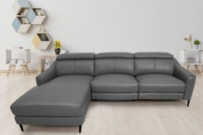 Komojo Ecksofa 5012 links - mit Relax - Anthrazit