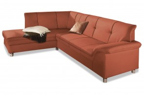 Domo Collection Ecksofa XL Dole links - Orange