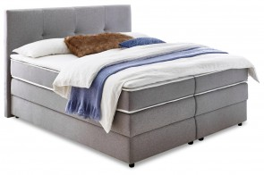 Atlantic Collection Boxspringbett 160x200 Merlin - Grau mit Boxspring