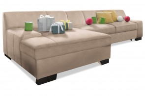 Ecksofa Norma links - Creme