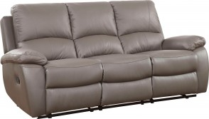 Leder 3er-Sofa Lion - Anthrazit