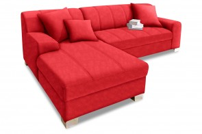 Ecksofa Capri links - Rot