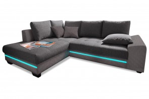 Ecksofa XL Nikita links - Anthrazit