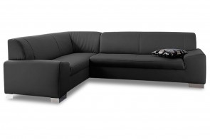 Ecksofa XL Alisson links - mit Schlaffunktion - Anthrazit