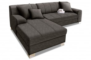 Ecksofa Capri links - Anthrazit