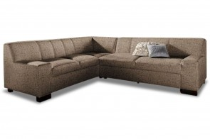 Ecksofa XL Norma links - Braun