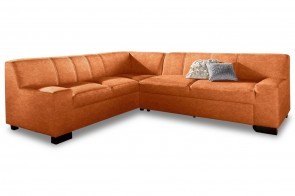 Ecksofa XL Norma links - Terrakotta