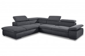 Ecksofa XL  links - Anthrazit