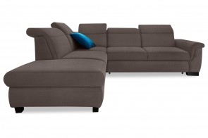 Ecksofa XL Sully links - mit Schlaffunktion - Taupe