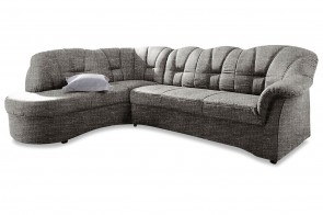 Ecksofa XL Papenburg-O links - Grau