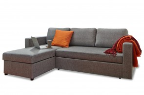 Atlantic Collection Ecksofa Seven links - mit Schlaffunktion - Grau