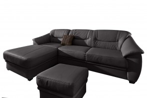Sofa L-Form  links - Schwarz