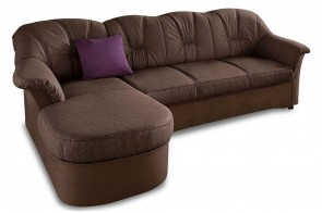 Ecksofa Flores links - Braun