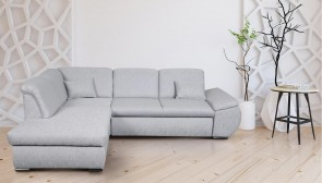 Meble Ecksofa XL Caro links - mit Schlaffunktion - Beige