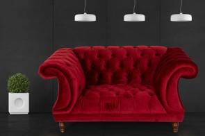 Max Winzer Sessel Isabelle - Rot mit Federkern
