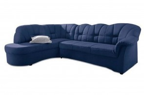 Ecksofa XL Papenburg-O links - Blau