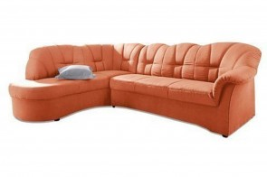 Ecksofa XL Papenburg-O links - Terrakotta