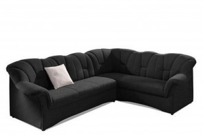 Ecksofa XL Papenburg-M links - Schwarz