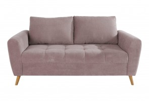 2er-Sofa Blackburn - Flamingo