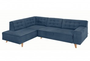 Tom Tailor Ecksofa XL Nordic Chic links - Blau