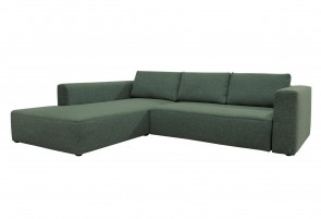 Tom Tailor Sofa L-Form Heaven M - mit Schlaffunktion - Grün