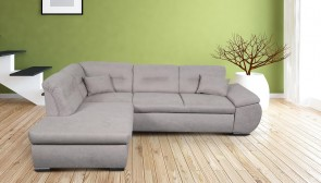 Meble Ecksofa XL Orca links - mit Schlaffunktion - Grau
