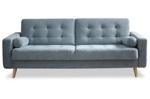 BlackRedWhite 3er-Sofa Fjord - mit Schlaffunktion - Blau
