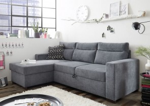 BlackRedWhite Ecksofa Itaca links - mit Schlaffunktion - 04 Anthrazit