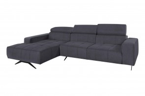 Ecksofa Trento links - Anthrazit