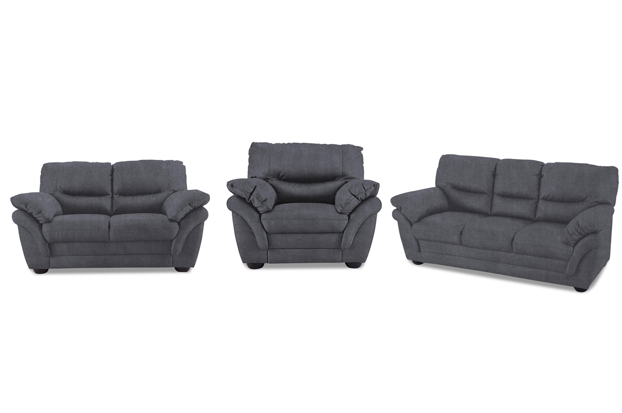 garnitur 3 2 1 rico anthrazit sofa couch ecksofa. Black Bedroom Furniture Sets. Home Design Ideas