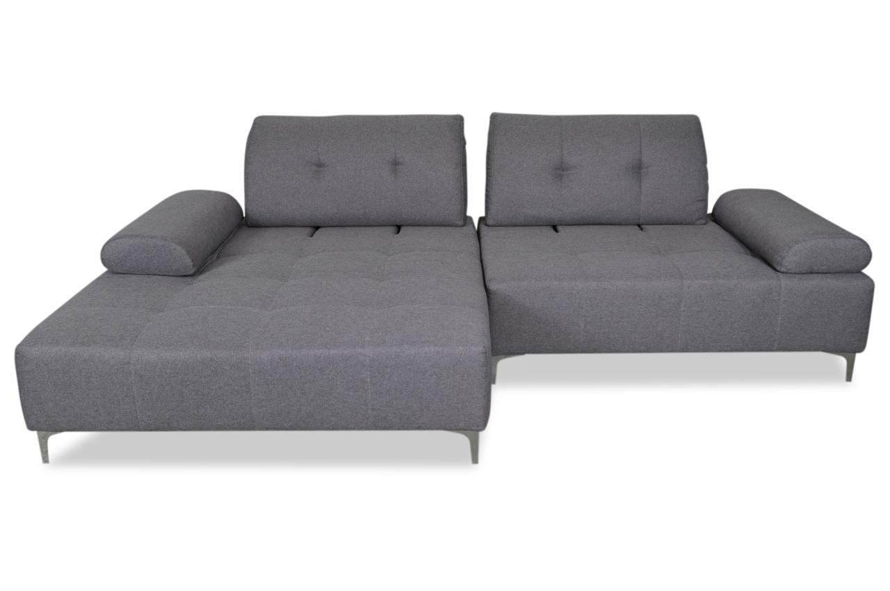 Emilia ecksofa asmara mit sitzverstellung grau sofas for Ecksofa caro