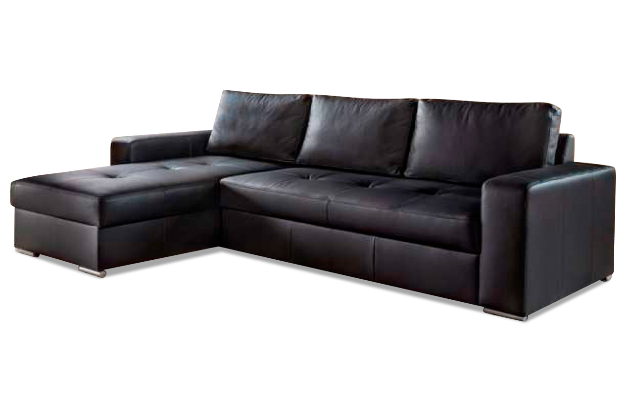 leder ecksofa florentina mit schlaffunktion braun. Black Bedroom Furniture Sets. Home Design Ideas
