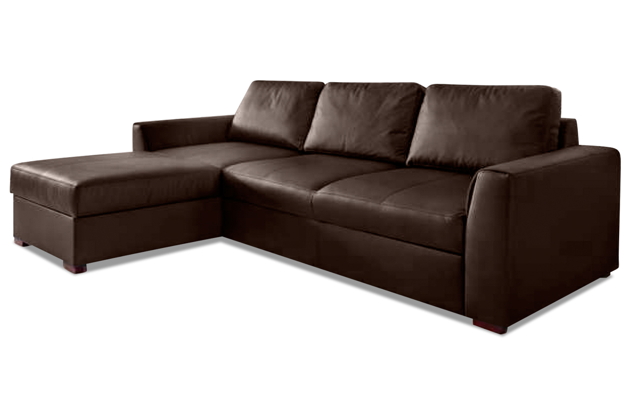 leder ecksofa moreno mit schlaffunktion braun sofas zum halben preis. Black Bedroom Furniture Sets. Home Design Ideas
