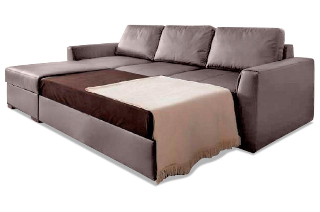 leder ecksofa moreno mit schlaffunktion braun sofas zum halben preis. Black Bedroom Furniture Sets. Home Design Ideas